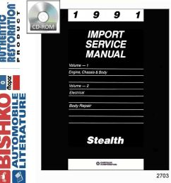 details about 1991 dodge stealth repair shop service repair manual cd engine drivetrain wiring [ 977 x 1000 Pixel ]