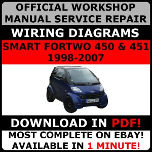 # OFFICIAL WORKSHOP Repair MANUAL for SMART FORTWO 450 & 451 19982007 WIRING# 19982007 | eBay