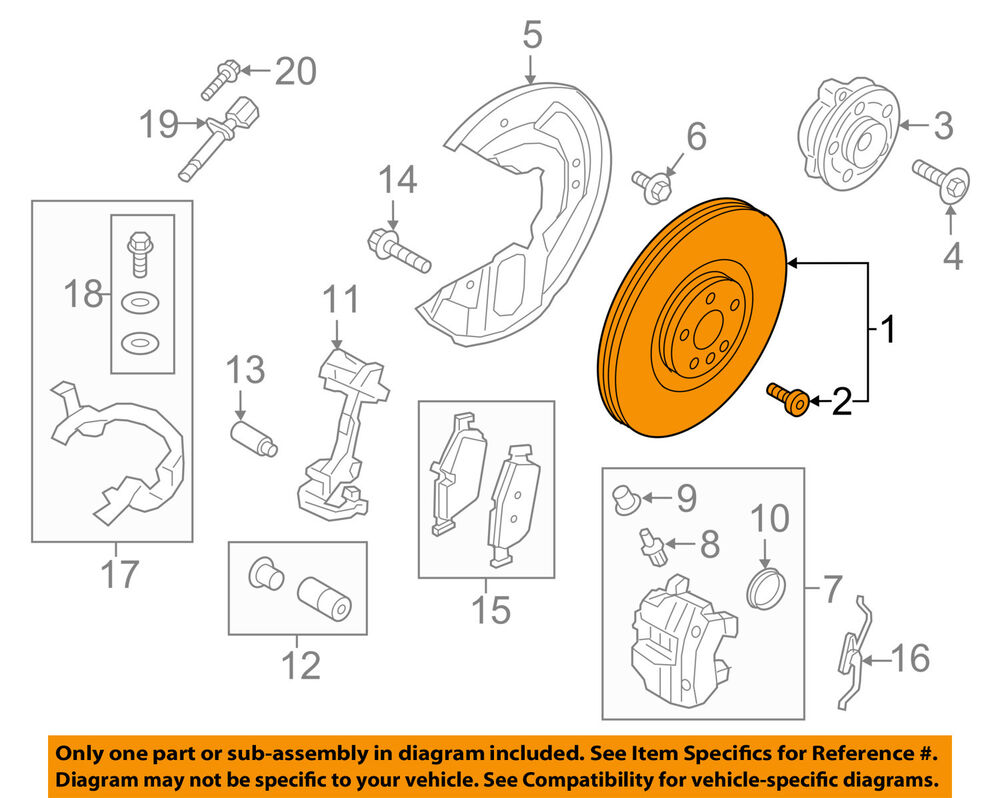 medium resolution of details about volvo oem 16 17 xc90 front brake disc rotor 31471752