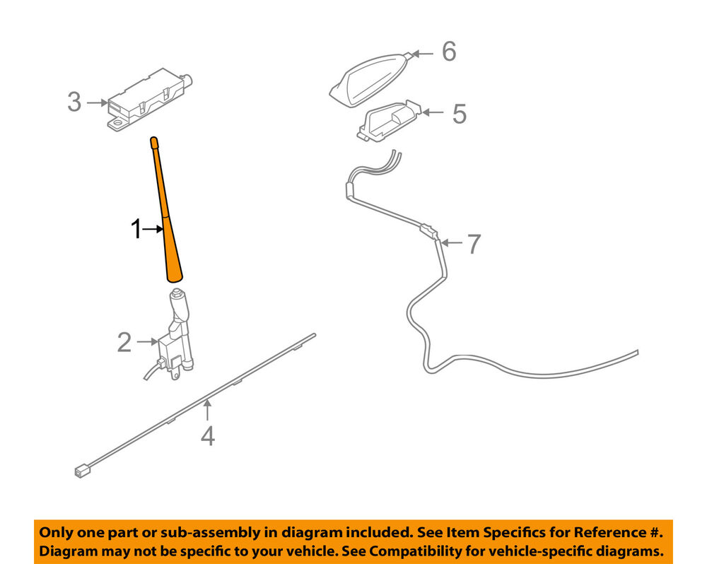medium resolution of details about volvo oem 06 13 c70 antenna mast 30633898