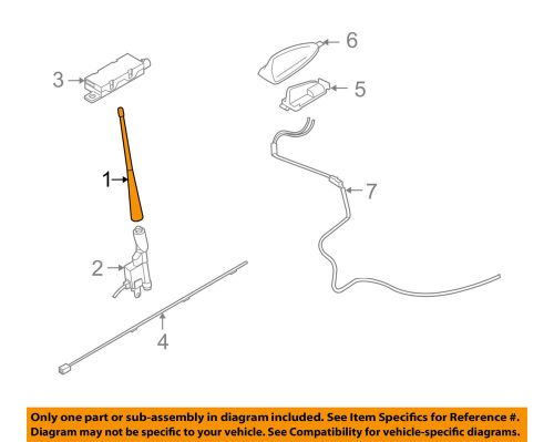 small resolution of details about volvo oem 06 13 c70 antenna mast 30633898