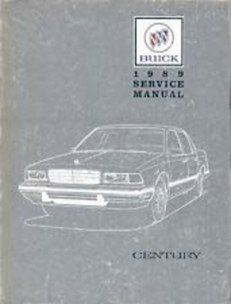 1989 Buick Century Shop Service Repair Manual Book Engine