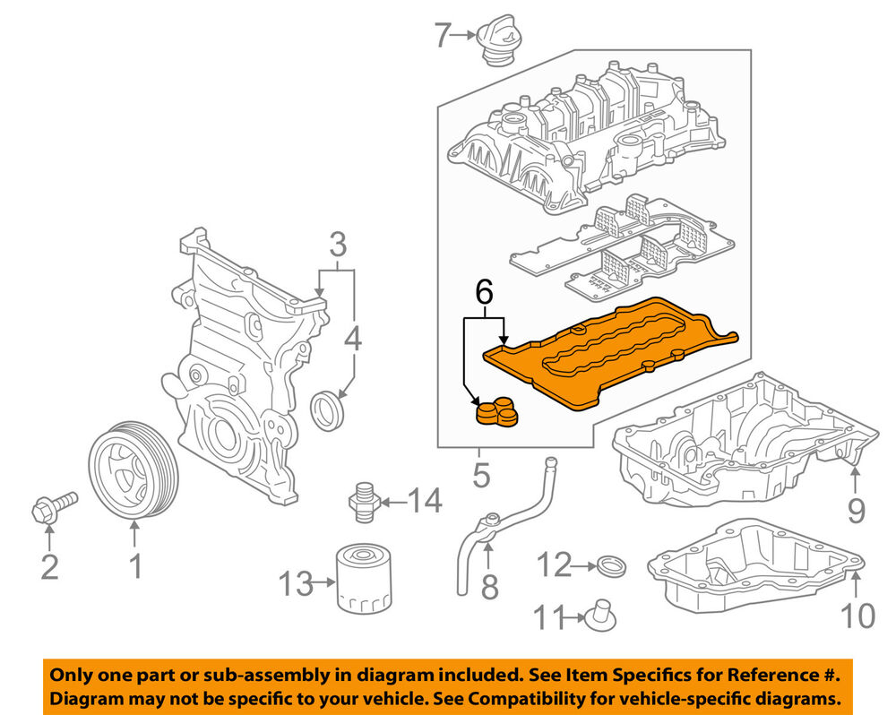 hight resolution of details about chevrolet gm oem 17 18 cruze engine parts valve cover gasket 12687228