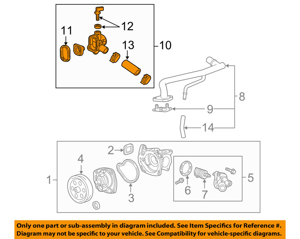 medium resolution of details about gm oem cooling system water outlet 12656446