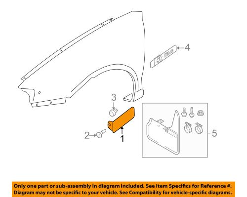 small resolution of details about audi oem 06 13 a3 front fender lower molding trim panel right 8p0853992bgru