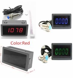 details about 4 digital red led tachometer rpm speed meter hall proximity switch sensor npn [ 972 x 977 Pixel ]