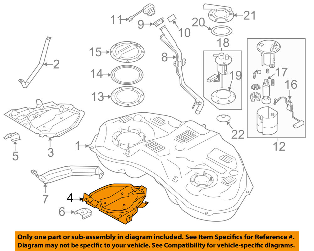 hight resolution of details about subaru oem 12 15 impreza 2 0l h4 fuel system protector left 42045fj010