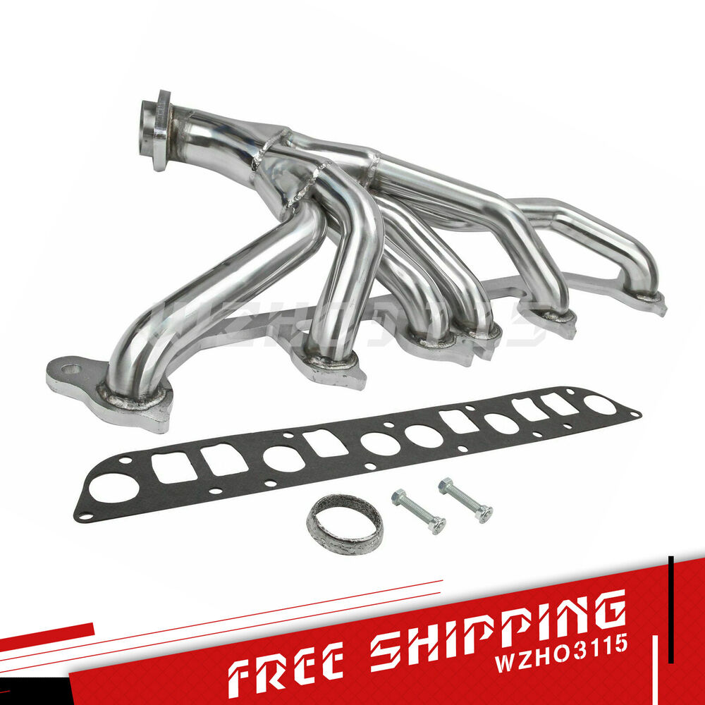 medium resolution of details about stainless exhaust manifold header for 91 99 jeep wrangler cherokee 4 0l l6 tj yj