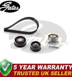 gates timing cam belt kit for vauxhall astra twintop 1 6 1 8 belts vehicle parts accessories  [ 1000 x 981 Pixel ]