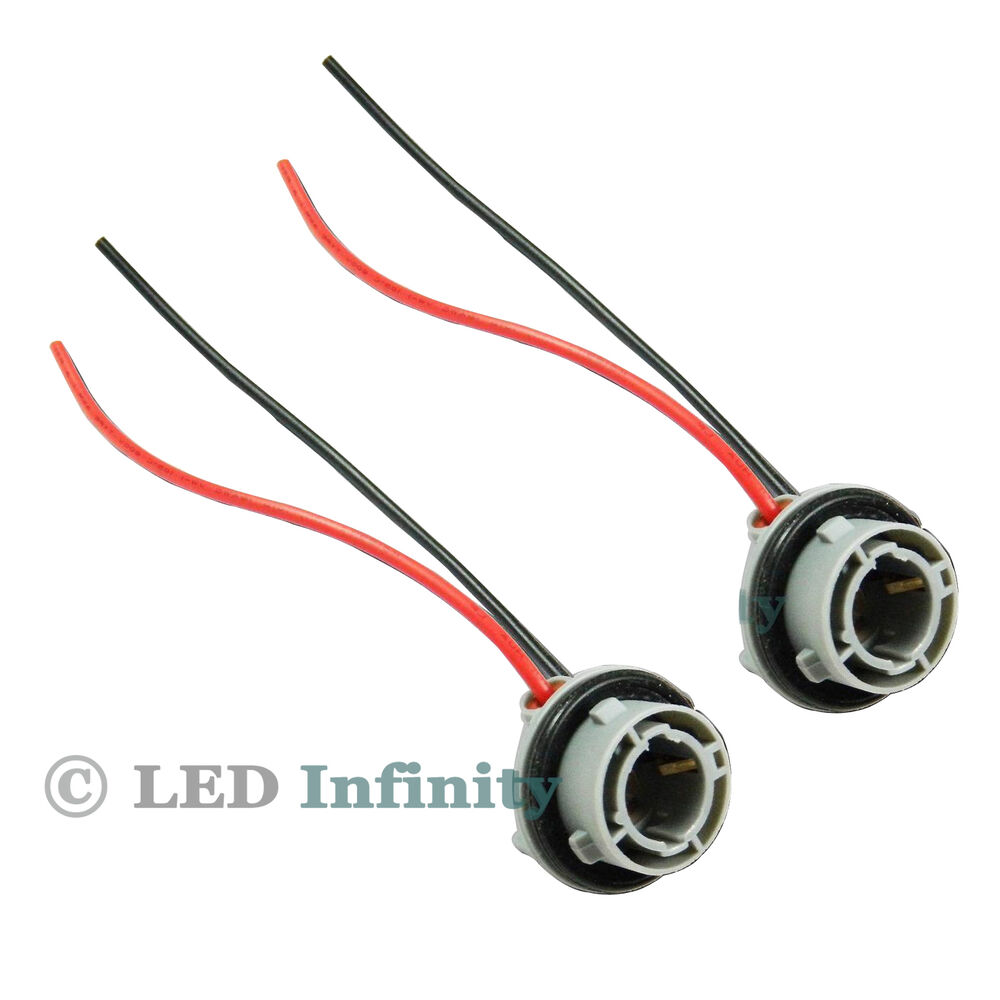 hight resolution of details about a pair 1156 7527 p21w car signal tail light socket wiring harness connector
