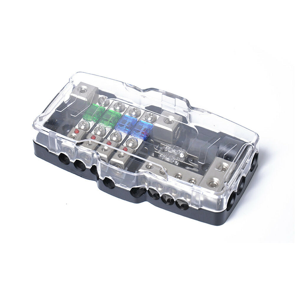 hight resolution of details about 4 8ga multifunctional led car mini anl fuse box with 4 way fuse block holder hot