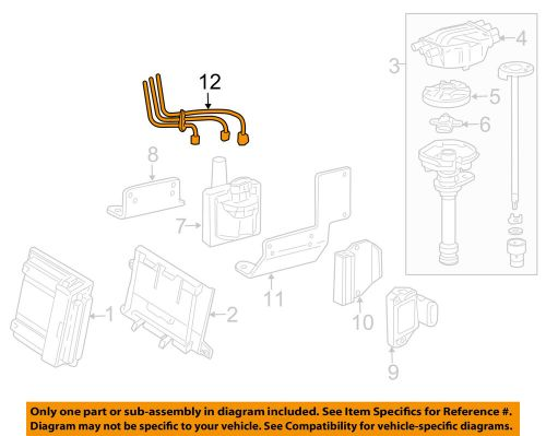 small resolution of details about gm oem ignition spark plug wire or set see image 19351573