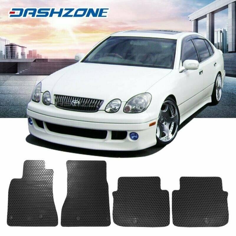 hight resolution of details about all weather black floor mats liners front rear fit 1998 2005 lexus gs300 400 430