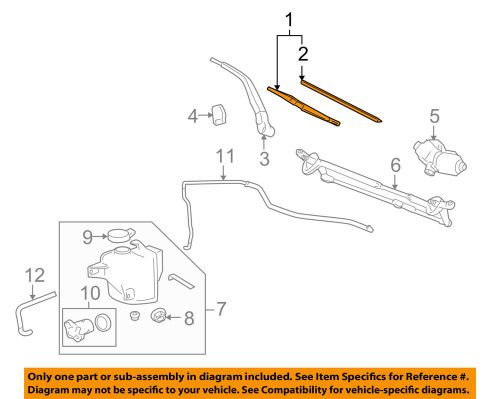 small resolution of details about hummer gm oem 06 10 h3 wiper arm front blade 10389563