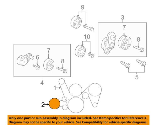 small resolution of details about pontiac gm oem 08 09 g8 a c ac serpentine belt 92068285