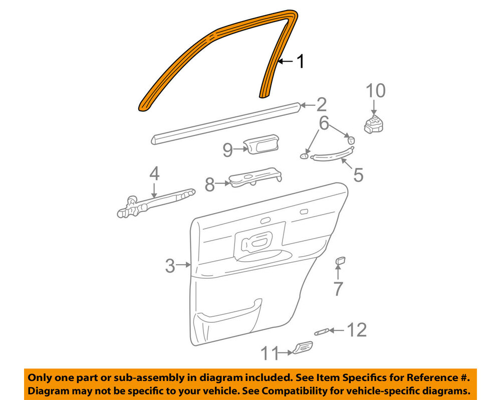 hight resolution of details about lincoln ford oem 98 11 town car interior rear door window trim 4w1z5425560ba