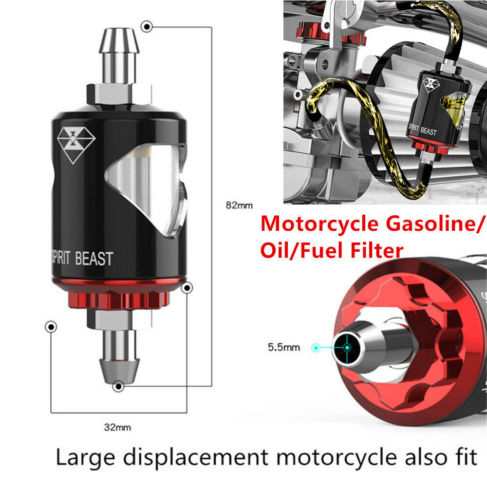 hight resolution of details about 1set t6063 aluminum motorcycle gasoline oil fuel filter prevent impurities