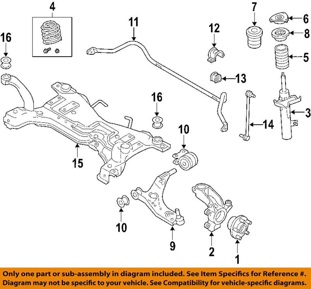 medium resolution of details about volvo oem 06 13 c70 front suspension strut 31277596