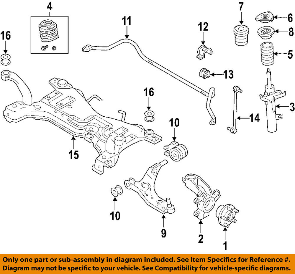 hight resolution of details about volvo oem 06 13 c70 front suspension strut 31277596