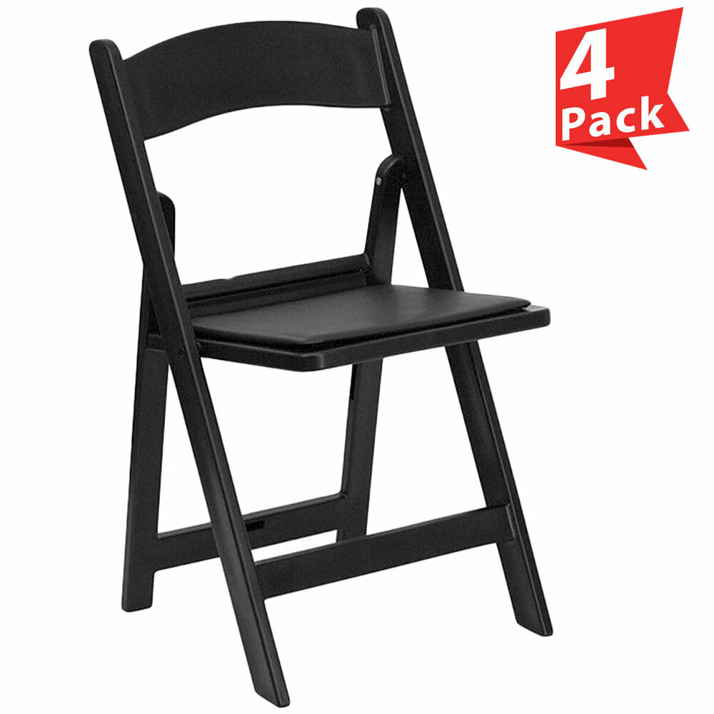 Heavy Duty Outdoor Chairs 4 Folding Resin Chair Black Wedding Party School Event Heavy Duty Outdoor Chairs Ebay