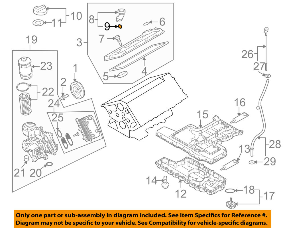 hight resolution of details about audi oem 05 09 a8 quattro engine parts filler tube seal n90460801