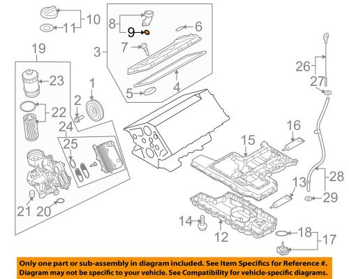 small resolution of details about audi oem 05 09 a8 quattro engine parts filler tube seal n90460801