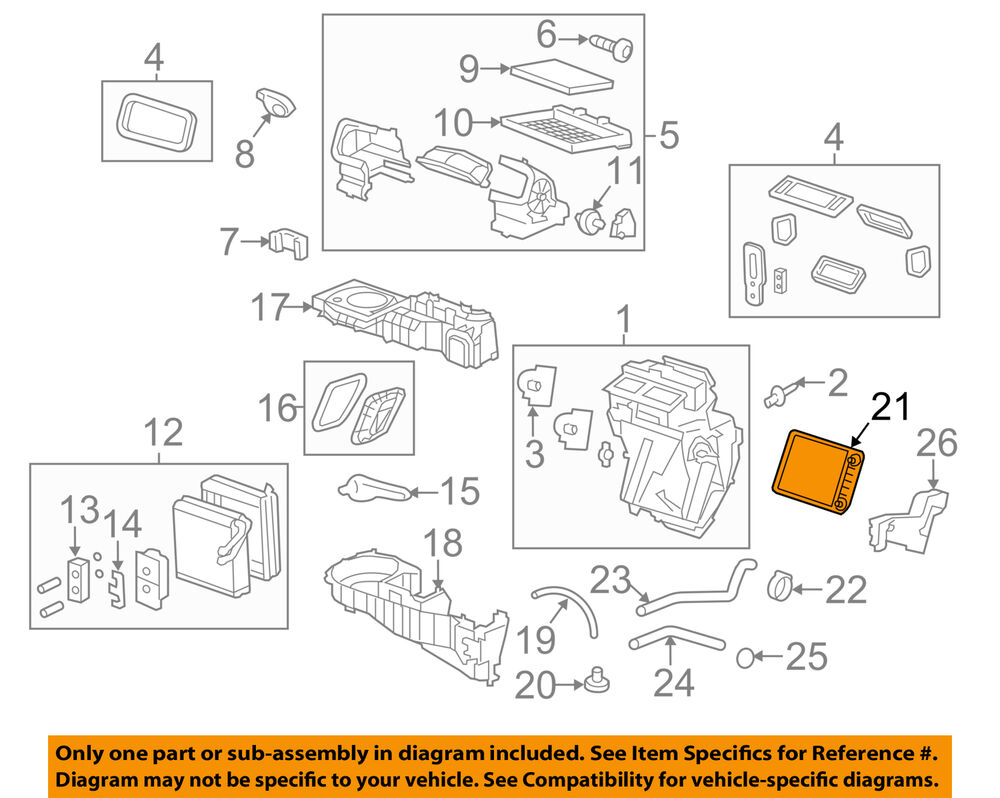 medium resolution of details about gm oem hvac heater core 22961456