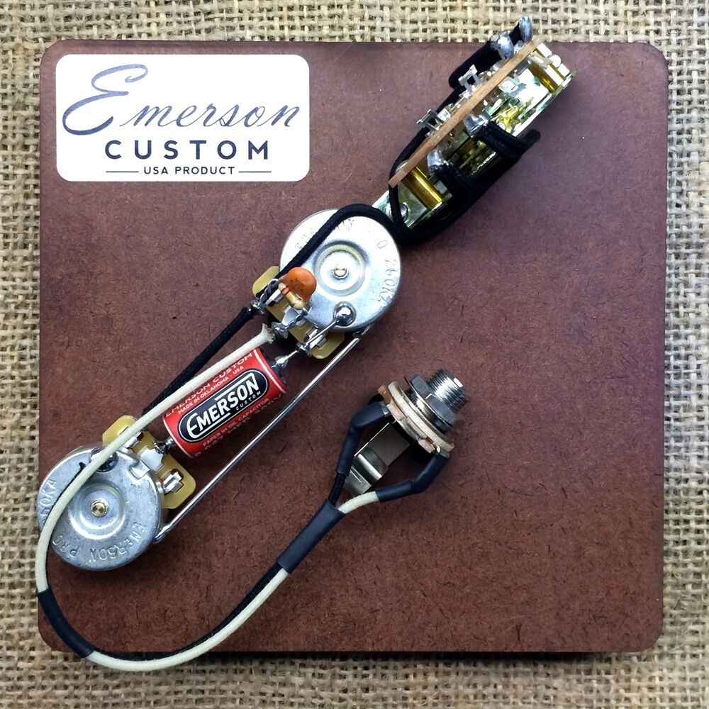 hight resolution of details about emerson custom 3 way telecaster prewired kit wiring harness pots made in usa