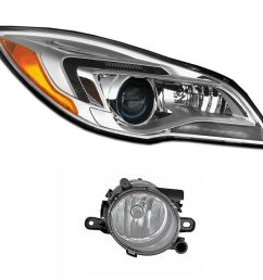 details about new passenger right genuine hid headlight headlamp fog light for buick regal [ 1000 x 883 Pixel ]