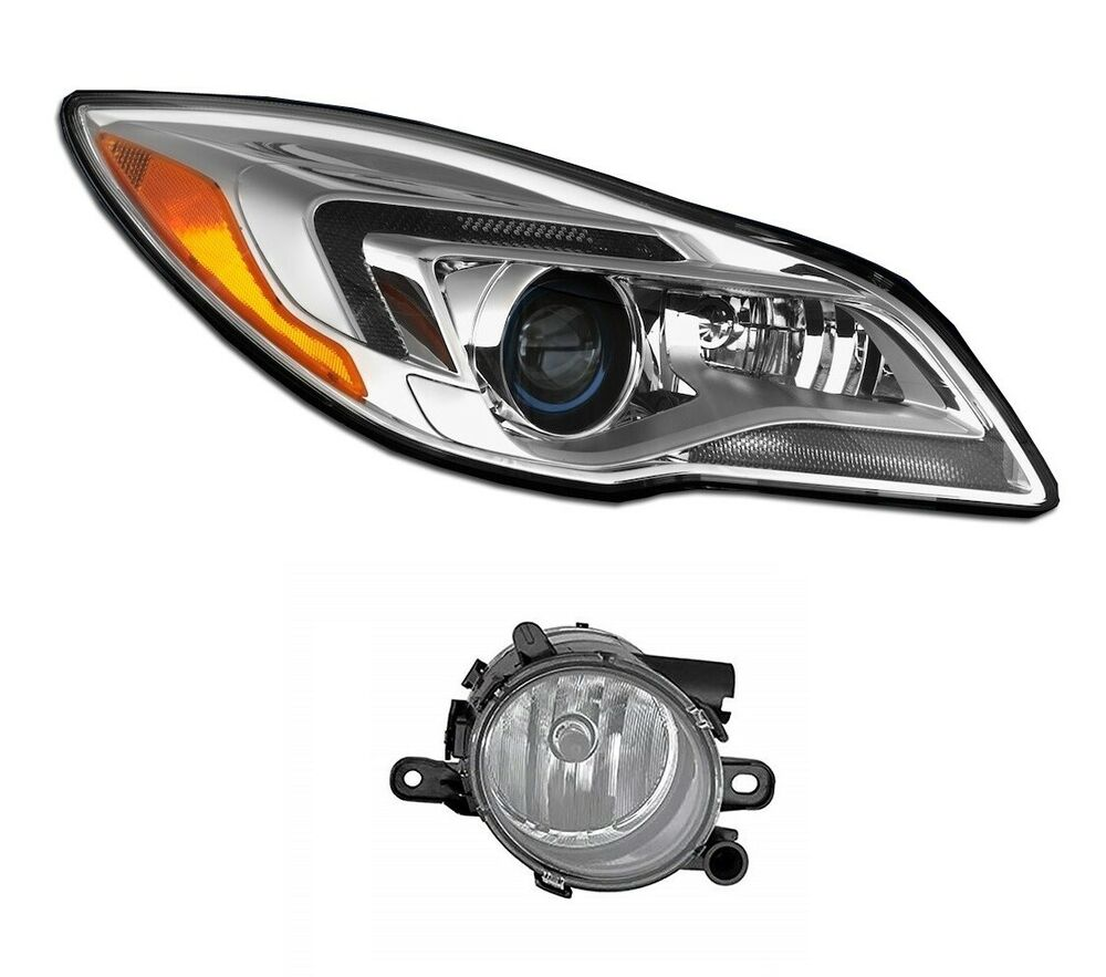 hight resolution of details about new passenger right genuine hid headlight headlamp fog light for buick regal