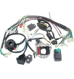 details about complete electrics stator coil cdi wiring harness for 4 stroke atv klx 50cc 70cc [ 1000 x 1000 Pixel ]