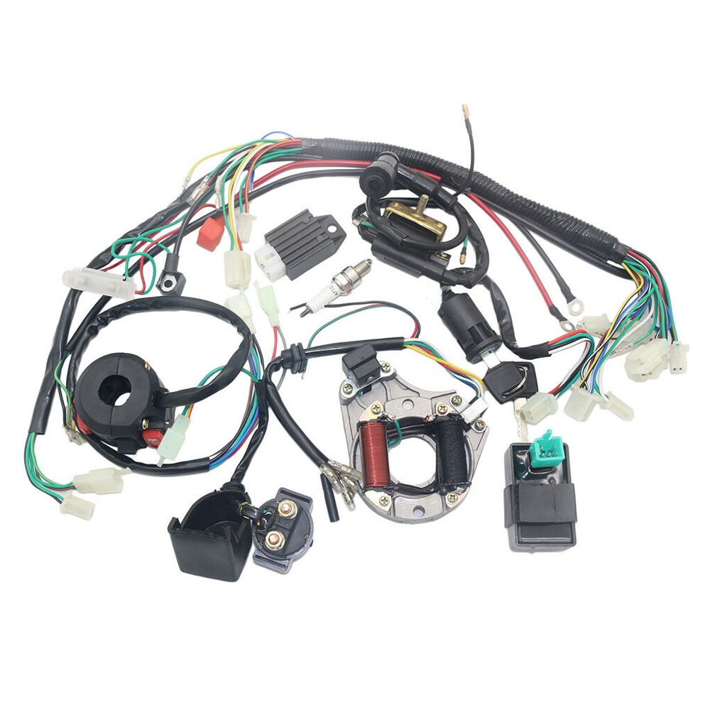medium resolution of complete electrics stator coil cdi wiring harness for 4 stroke atv china 110 atv diagram 50cc atv wiring harness for