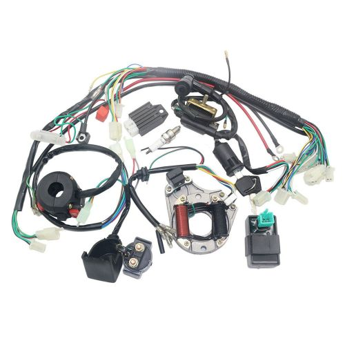 small resolution of complete electrics stator coil cdi wiring harness for 4 stroke atv china 110 atv diagram 50cc atv wiring harness for