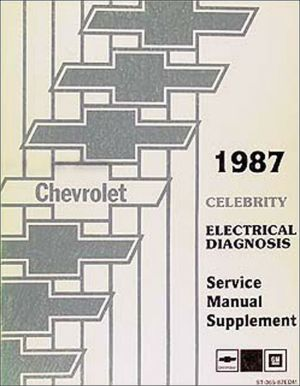 1987 Chevy Celebrity Electrical Manual Wiring Diagrams | eBay