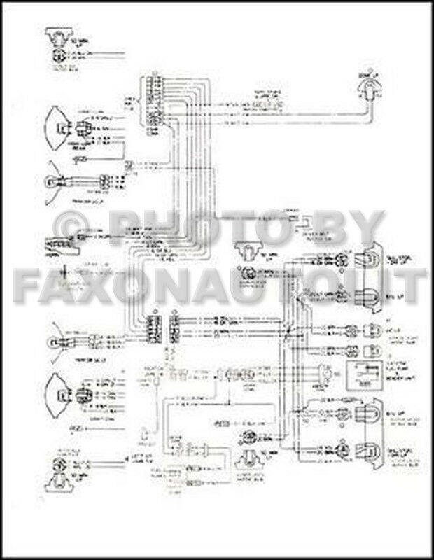 1972 chevy chevelle wiring diagram of alternator 1979 monte carlo malibu and classic 79 electrical foldout | ebay