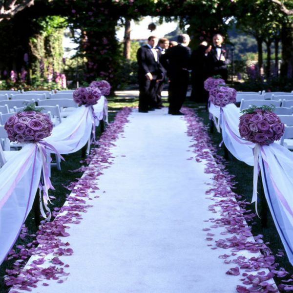 50 Ft Satin Fabric Aisle Runner 22 Colors Extra Wide 60