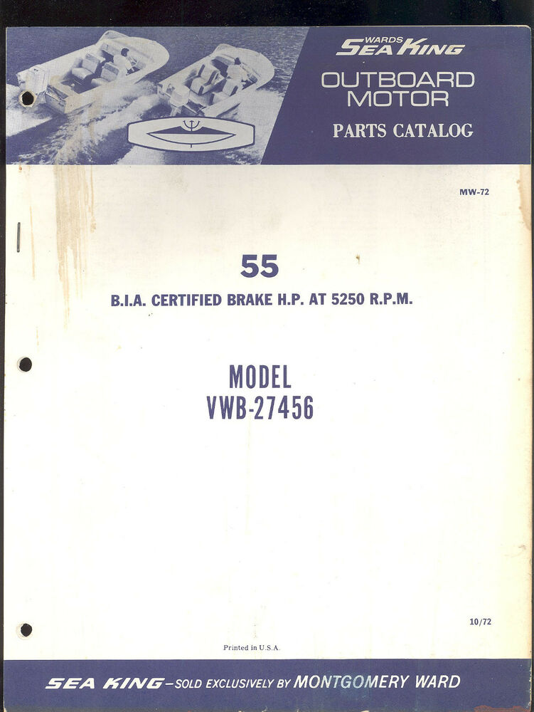 1973 / 55 SEA KING BY CHRYSLER OUTBOARD PARTS MANUAL