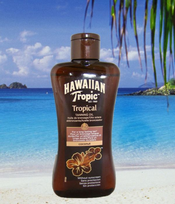 Hawaiian Tropic Factor Tropical Tanning Oil Spf 0 Sun