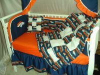 Baby Nursery Crib Bedding Set w/Denver Broncos fabric | eBay