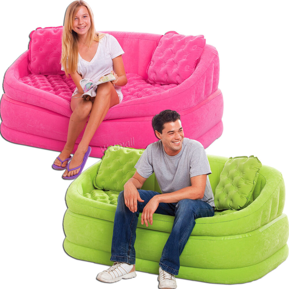 intex sofa chair pale pink uk cafe loveseat inflatable gaming lounge ...