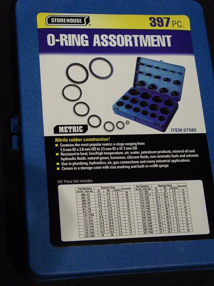 Metric Rubber ORing Assortment Kit Automotive Nitrile Storage Case Oring Orings 792363675802  eBay