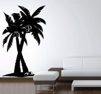 Large Vinyl Wall Art Decal Coconut Palm Tree Forest ...