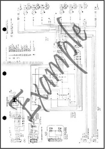 1971 Ford Bronco Econoline Wiring Diagram Original E100