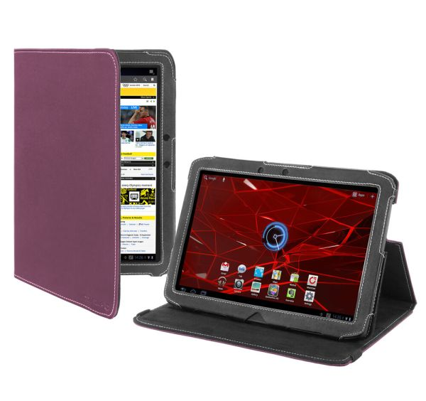 Cover- Motorola Xoom 2 10.1- Tablet Case Version Stand - Purple