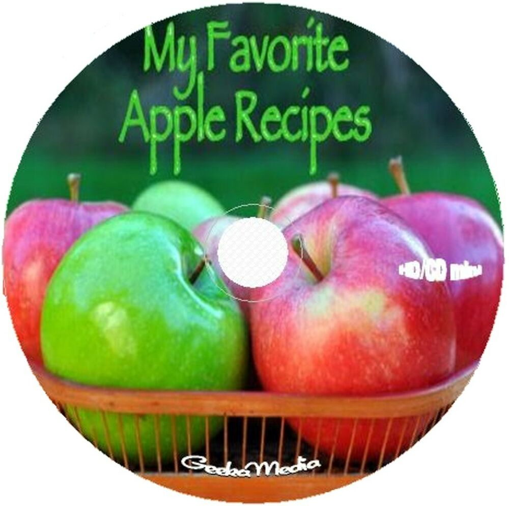 apple recipes 6 cookbook cd pudding cake pie jelly leather muffin
