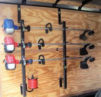 3Place Weedeater Trimmer Trailer Racks ENCLOSED Free ...