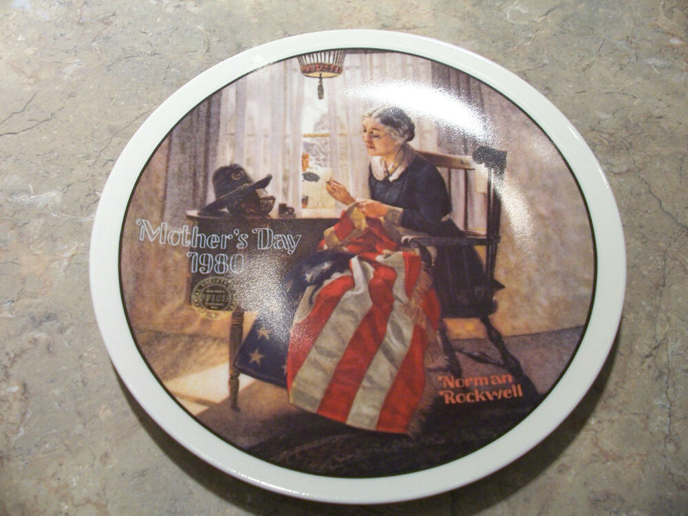 Norman Rockwell Mothers Day Platesset Of 31980