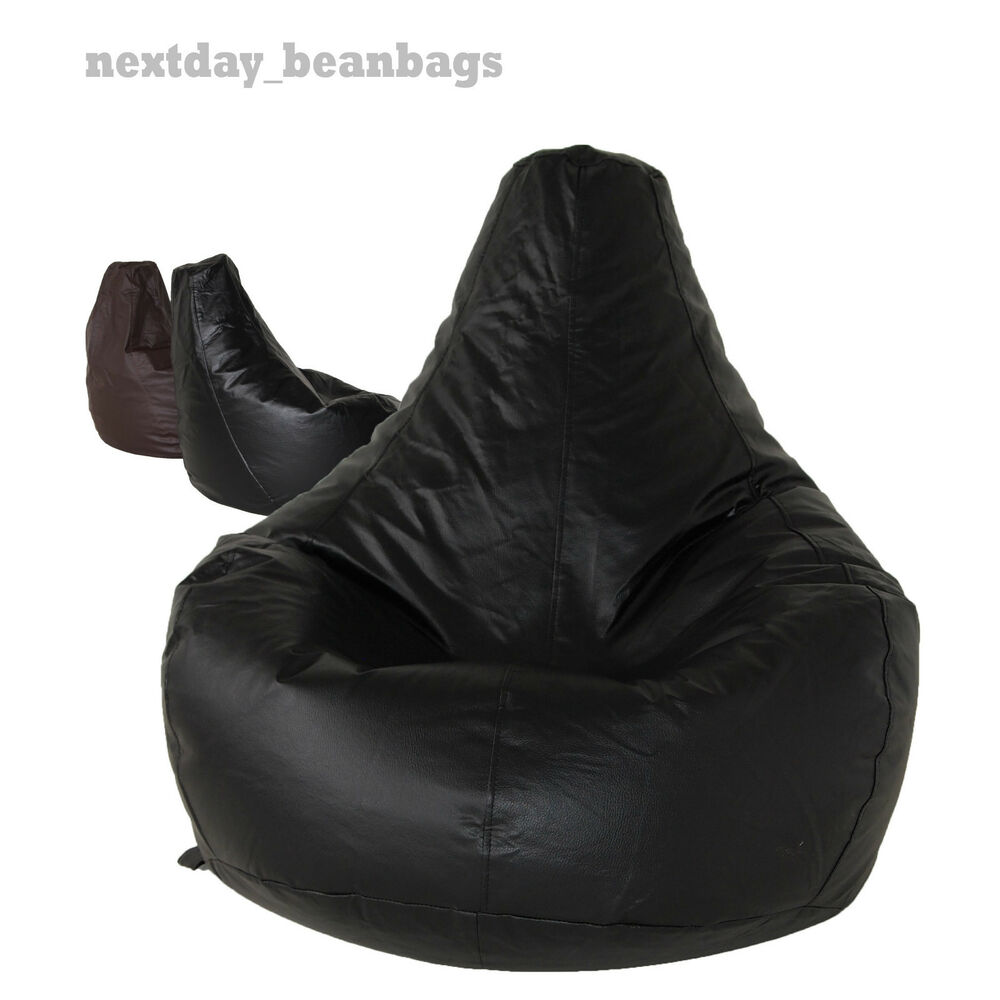 Bean Bag GAMING CHAIR beanbag Faux Leather with High Back