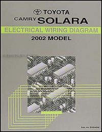 2002 Toyota Camry Solara Electrical Wiring Diagram Manual ...