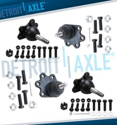details about new 4pc front suspension upper and lower ball joint assembly set chevrolet 4wd [ 1000 x 1000 Pixel ]
